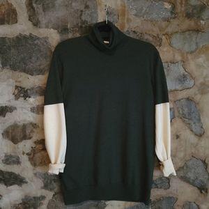 DRIES VAN NOTEN colorblock turtleneck sweater